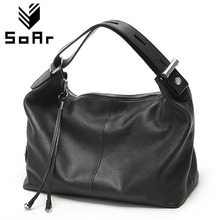 SoAr Genuine leather bag luxury handbags women bags designer women shoulder messenger bags top-handle bags new fashion vintage 4