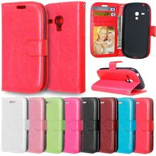 Flip Case for Samsung Galaxy S 3 iii mini S3 Siii i8190 GT-i8190 GT-i8190L Value Edition VE i8200 GT-i8200 Phone Leather Cover(China)