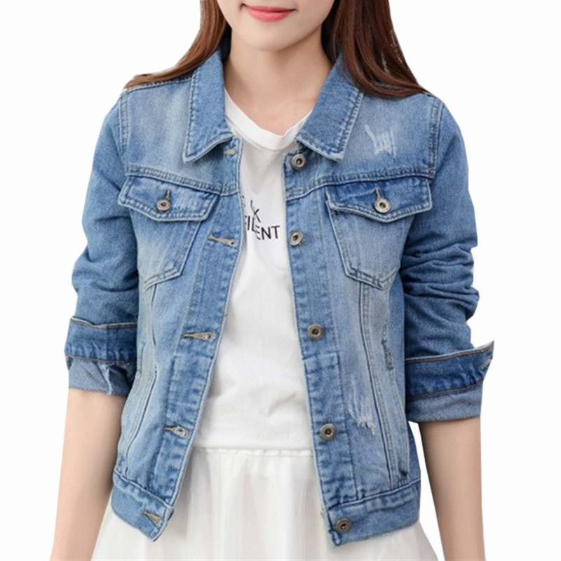 Mens Denim Jacket Casual Long Sleeve with Pockets Turn-Down Collar Solid Coat Tops