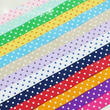(5 yards/lot) 22mm Cartoon Polka Dots Printed Grosgrain Ribbon Lovely Series Ribbons Wholesale