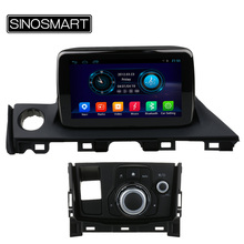 SINOSMART 8 Inch 1.6GHz Quad Core Android 4.4 Car Radio GPS Navigation Player for Mazda 6/Atenza 2016 2017 with Canbus NO DVD