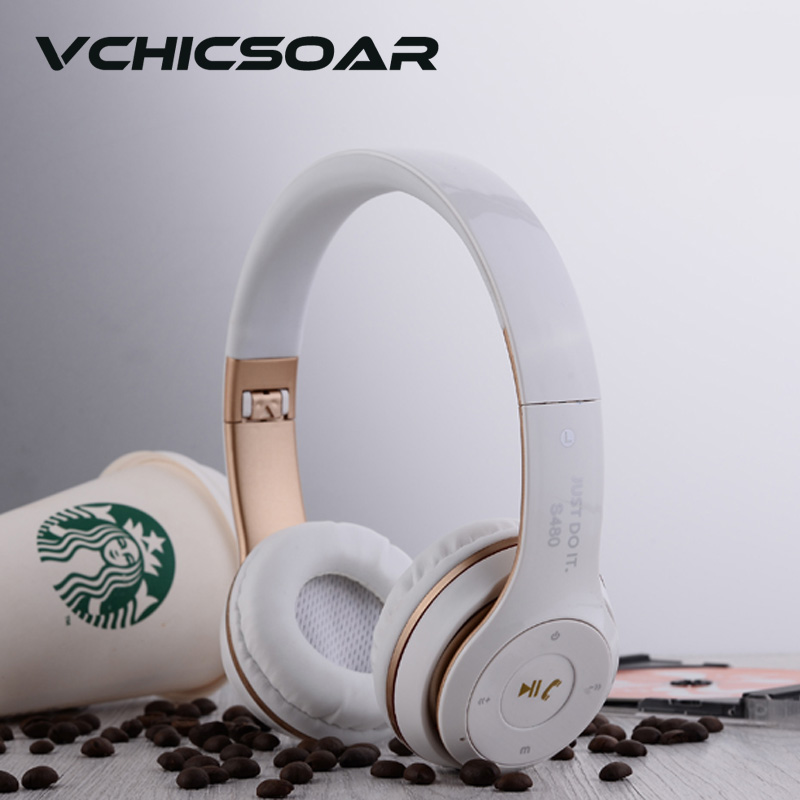 VCHICSOAR Wireless Bluetooth Headphones Foldable Portable Headsets earbuds with Mic  HiFi Stereo Heavy Bass Earphones for iPhone<br><br>Aliexpress