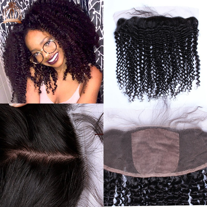 13x4 Silk Base Frontal 6A Brazilian Virgin Hair Kinky Curly Silk Top Lace Frontal Closure With Baby Hair Rosa Hair Products<br><br>Aliexpress