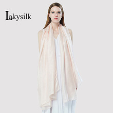 [Lakysilk]High quality silk scarf plain solid elasticity shawls maxi hijab bandana long muslim head wrap long scarves/scarf(China)