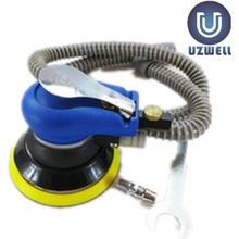 UZWELL 5 Inch Pneumatic Sander Palm Orbital Sander Polisher Circle Round Pad Dust Suction for selection Pneumatic Air Tool(China)