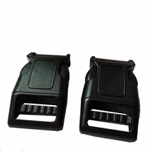 10pcs pet lot 25mm PP curved plastic side release buckles for dog collar accessories bags high quality pet collar accessories(China)
