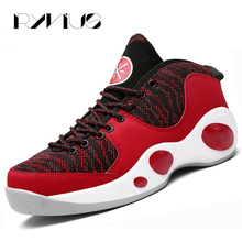 Ryvius Men Basketball Shoes Outdoor Sports High Top Cushion Sneakers Breathable Air Mesh Athletic Trainers Basket Hombre Black(China)