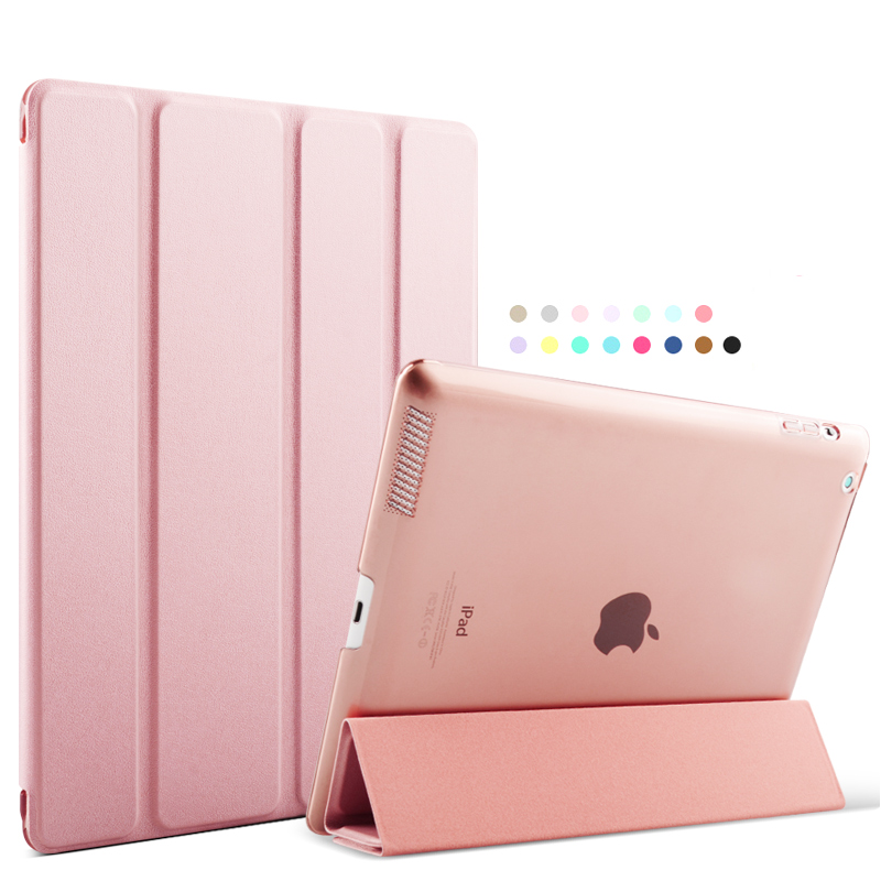 Case for iPad /2/3/4, Trifold Flip Case Smart Cover Auto Wake Up/Sleep Function for apple iPad4 case<br><br>Aliexpress