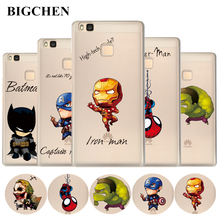 Soft TPU Case For Huawei P8 P9 Lite Nova Y6 Pro Y3 Y5 Y6 II Cool Marvel Case Back Cover For Honor 7 8 4C 5C Pro 6X Phone Cases