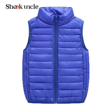 2017 Winter Fashion Boy down vests waistcoats Baby girl Outerwear&Coats vest candy color Kids jackets Autumn Childrens Outerwear