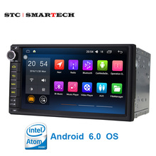 Intel 3GR PC Quad Core 2Din Android 6.0 Universal Car Audio HIFI Stereo GPS 3G Wifi Bluetooth Radio Player Automotive HeadUnit(China)