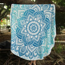 150cm Summer Round Beach Towels Large Chiffon Bohemia Printed Blanket Circle Beach Towel Serviette De Plage Outdoors Yoga Mat