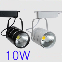 10W AC90-260V Led Track Lamp White/Black Body Aluminum Material