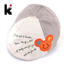 Free shopping Kids Summer Fashion Berets Hats For Baby Hat Boina Boy And Girl Bebes Toca Mesh visor Cap 3 Colors