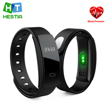 New QS80 Blood Pressure Heart Rate Monitor Bluetooth Smart Band Bracelet Wristband Sleep Monitoring for IOS Android Smartphone