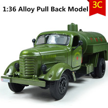 1:36 scale alloy Military trucks,Diecast Metal Military Model,pull back Tanker cars, Alloy gift car,free shipping