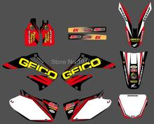 0173 New Style TEAM  GRAPHICS&BACKGROUNDS DECALS STICKERS Kits for Honda  CRF450R CRF450 2002 2003 2004