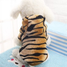 Pet Dog Cat Clothes Tiger Dog Winter Coats Warm Dog Hoodies For Chihuahua Small And Large Dog Costumes CY1