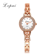 Lvpai Brand Cheap Fashion Luxury Watches Stainless Steel Gold Quart Watch Women Girl Wristwatch Casual Quartz New Fashion Watch