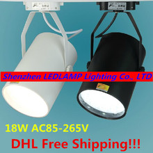 Super Bright 18W LED Track Lamp Spot Track Light for cloth toggery shop rail lgight 85-265V LED Comercial Lighting