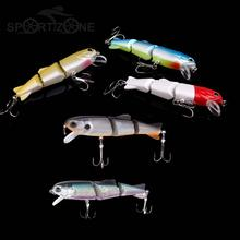 2017 Minnow Fishing Lure 17g/100mm 3 Section Fishing Minnow Lure Soft Tail Bass Lure China Fishing Shop Bionic Hard Bait