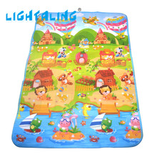 Lightaling Playmats Baby Care Double Faced Animal Farm Carpet Infant Rug Toddler Blanket Playing Excercise Crawling Kids Mat