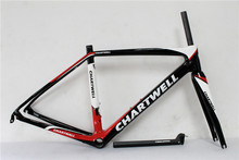 Hot sale! carbon road bike frame 2017 NEW carbon fiber bicycle frame carbon road frame customized painting cardre carbone(China)