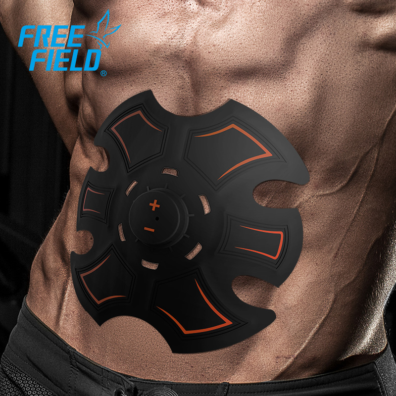 Free Field electric muscle stimulator device abs rechargeable one piece ems trainer abdominal fitness massage machine tens unit<br>