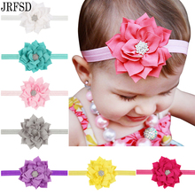 JRFSD2016 new children lotus leaf paragraph diamond headband Elastic hair band infant children's hair accessories baby hair band