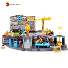 Free Shipping Engineer Cars Parking Orbit Car Dunk Track ABS Spiral Roller Rail Vehicles Gift Toys for Children Best Gift(China)