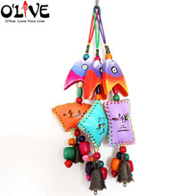 Wooden Wind Chimes Outdoor Vintage Home Decoration Garden Hanging Bell Car Pendant Metal Crafts Fish Windbell