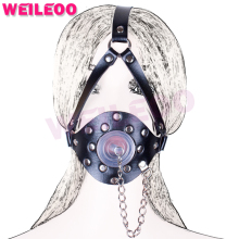 Buy harness oral sex plug open mouth gag ball adult sex toys bdsm bondage set fetish slave bdsm sex toys couples adult games