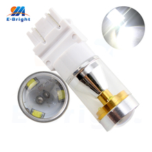White 12V 4.2W 6 SMD 3156 3157 T25 Socket Led Bulbs Cars Driving Tail Backup Light Headlight High Quality Leds Free Shipping(China)