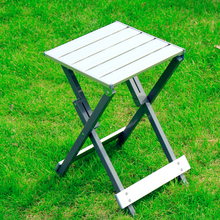 2016 New Household portable counter stools fishing stool beach leisure park barbecue small stool aluminum metal folding chairs(China)