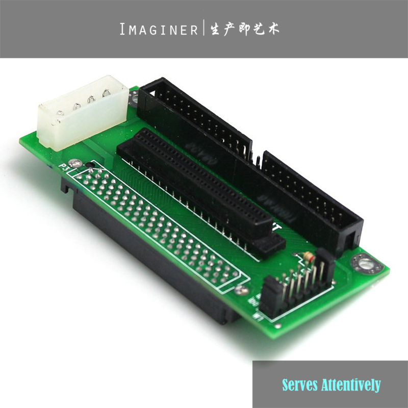 SCSI SCA 80 PIN TO 68 50 PIN SCSI Adapter SCA 80 PIN TO SCSI 68 IDE 50 Free Shipping Wholesale(China (Mainland))