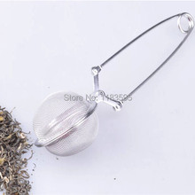 High Quality Tea Infuser Stainless Steel Tea Pot Infuser Sphere Mesh Tea Strainer Handle Tea Ball 6HP9U 2016 New