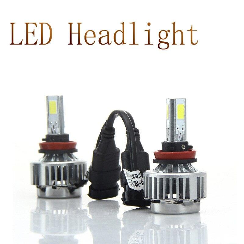 72W High Power COB LED Auto Car Bulb H11 HeadLight LED A336 All In Oen H11 H8 H9 White  Beam 6600LM LED Headlamp Bulb H11<br><br>Aliexpress