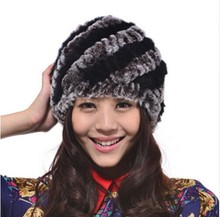 2016 New Women's Hats Warm Rex Rabbit Fur Hats For Women Fashion Headgear Headdress Gorro De Inverno Beanie Women Hat For Girls