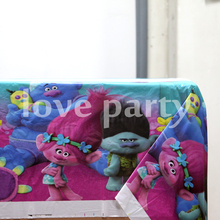 1pcs\lot Trolls Cartoon Theme Tablecover Plastic Kids Favors Tablecloth Baby Shower Happy Birthday Party Decoration Supplies
