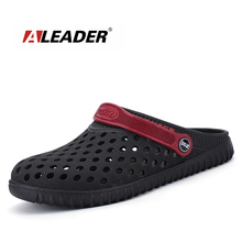 Aleader EVA Croc Clogs Men Slip On Garden Shoes Lightweight Beach Sandals For Men Casual Water Slippers Yeez Men Shoes(China)