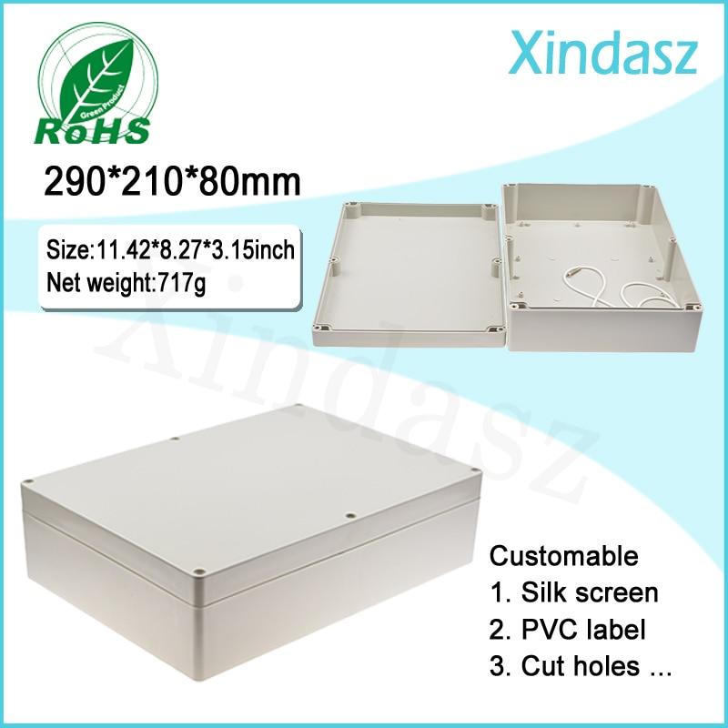 290*210*80mm Plastic electrical enclosure waterproof electric boxes,Waterproof, dustproof, anti-corrosion IP66 <br>