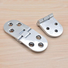 Silver Oval table hinge folding accessories flap hinges x10(China)