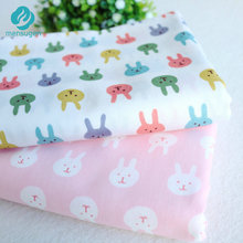 50*160cm Little rabbit Bunnies Cotton Fabric for Baby Patchwork Quilts Cushions Pillows Cover Handicraft Sewing Tissus au metre
