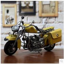 Creative classic multicolor restoring ancient ways wrought iron motorcycle models Figurines decoration furnishing articles