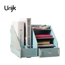 Urijk Storage Drawer DIY Desktop Storage Creative Wooden Folder Storage Box For Jewelry Makeup Container Box Case Office Home(China)
