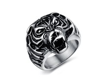 Personalized TIGER Head Punk Rock Stainless Steel Party Men Jewelry Hot Sale Finger Ring Ornament(China)