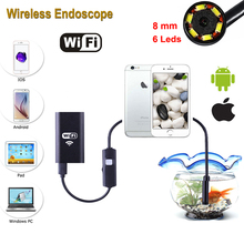 Stardot IOS Wifi Endoscope Android with 8mm Lens 1m 3m 5m 7m Cable 6 LED Waterproof Iphone Endoscope Inspection Borescope