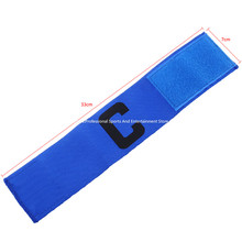 Promotional Football Soccer Flexible Sports Adjustable Player Bands Fluorescent Captain Armband(China)