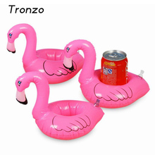 Tronzo 5Pcs Pink Mini Flamingo Floating Inflatable Drink Can Call Phone Holder Swimming Bath Party Hawaiian Party Decorations