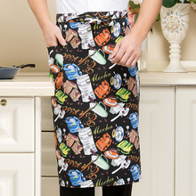 1piece New Waiters Aprons Chef Icecream chili Print Aprons one Size Restaurant Food Service Accersories(China)